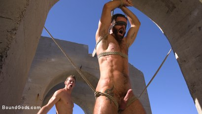 Photo number 20 from Muscled Rope Slut Abducted, Bound, Flogged, and Fucked shot for Bound Gods on Kink.com. Featuring Brendan Patrick and Pierce Paris in hardcore BDSM & Fetish porn.