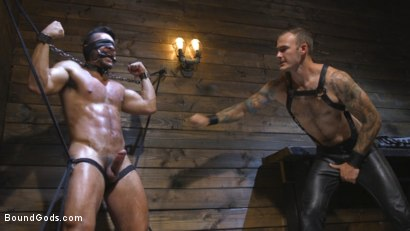 Photo number 10 from Submissive Seth Santoro Suffers For Christian Wilde shot for Bound Gods on Kink.com. Featuring Christian Wilde and Seth Santoro in hardcore BDSM & Fetish porn.