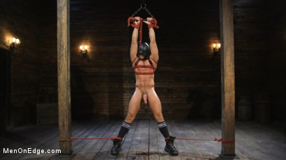 Photo number 3 from Submissive Stud Jack Andy Bound in Rope and Fucked in the Ass!! shot for Men On Edge on Kink.com. Featuring Jack Andy in hardcore BDSM & Fetish porn.