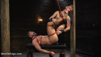 Photo number 8 from Submissive Stud Jack Andy Bound in Rope and Fucked in the Ass!! shot for Men On Edge on Kink.com. Featuring Jack Andy in hardcore BDSM & Fetish porn.