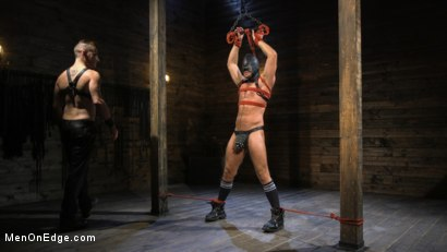 Photo number 1 from Submissive Stud Jack Andy Bound in Rope and Fucked in the Ass!! shot for Men On Edge on Kink.com. Featuring Jack Andy in hardcore BDSM & Fetish porn.