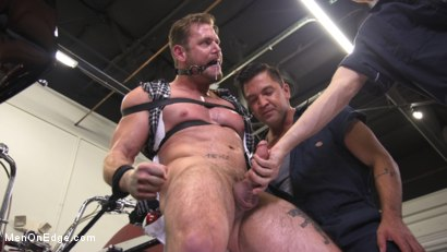 Muscle Stud Ace Era Dominated in Rope Bondage and Edged to Cum!