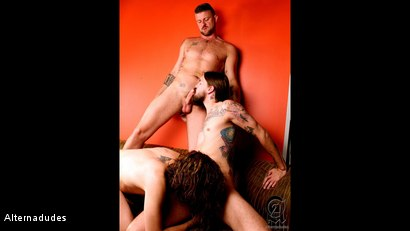 Photo number 6 from Rocker Dudes Have a Threesome shot for Alternadudes on Kink.com. Featuring Murphy Maxwell, Christian Matthews and Rob Benson in hardcore BDSM & Fetish porn.