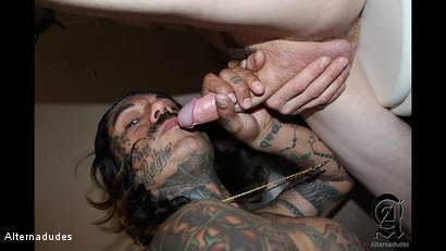 Photo number 13 from Shaggy Surfer Gets a BJ on the Toilet shot for Alternadudes on Kink.com. Featuring Chubbs Locklear and Thrasher in hardcore BDSM & Fetish porn.