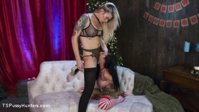 Photo number 3 from All Lily Lane wants for Christmas is a Nice Hard Cock shot for TS Pussy Hunters on Kink.com. Featuring Lily Lane and Aubrey Kate in hardcore BDSM & Fetish porn.