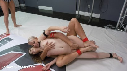 Photo number 8 from Blonde Pain slut and all Natural brunette battle in a sex fight shot for Ultimate Surrender on Kink.com. Featuring London River and Bobbi Dylan in hardcore BDSM & Fetish porn.