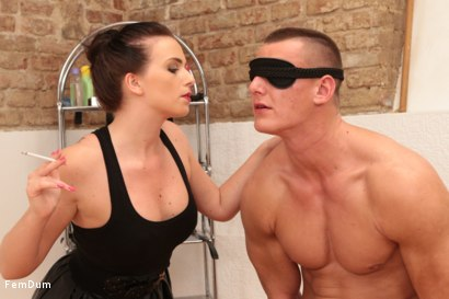 Photo number 3 from Thomas Can't Stand Up shot for FemDum on Kink.com. Featuring Eliza and Thomas in hardcore BDSM & Fetish porn.