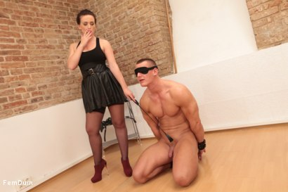Photo number 4 from Thomas Can't Stand Up shot for FemDum on Kink.com. Featuring Eliza and Thomas in hardcore BDSM & Fetish porn.