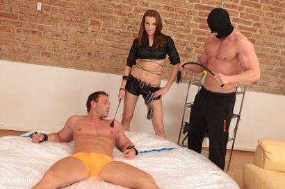 Photo number 3 from Muscles Vs Skinny Whore shot for FemDum on Kink.com. Featuring Peter Stallion, Camilla and Savlovy Muz in hardcore BDSM & Fetish porn.