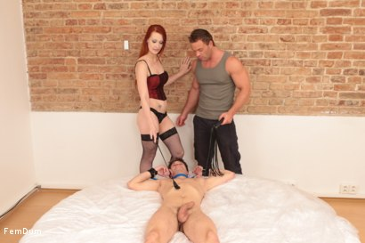 Photo number 1 from Guy Gets Strapon Fucked shot for FemDum on Kink.com. Featuring Iris, Rado and Peter Stallion in hardcore BDSM & Fetish porn.