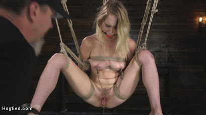 Photo number 13 from All Natural Cadence Lux Torment in Rope Bondage and Squirting Orgasms! shot for Hogtied on Kink.com. Featuring Cadence Lux and The Pope in hardcore BDSM & Fetish porn.