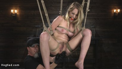 Photo number 16 from All Natural Cadence Lux Torment in Rope Bondage and Squirting Orgasms! shot for Hogtied on Kink.com. Featuring Cadence Lux and The Pope in hardcore BDSM & Fetish porn.