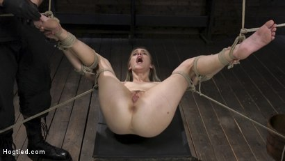 Photo number 21 from All Natural Cadence Lux Torment in Rope Bondage and Squirting Orgasms! shot for Hogtied on Kink.com. Featuring Cadence Lux and The Pope in hardcore BDSM & Fetish porn.