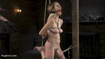 Photo number 3 from All Natural Cadence Lux Torment in Rope Bondage and Squirting Orgasms! shot for Hogtied on Kink.com. Featuring Cadence Lux and The Pope in hardcore BDSM & Fetish porn.
