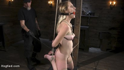 Photo number 4 from All Natural Cadence Lux Torment in Rope Bondage and Squirting Orgasms! shot for Hogtied on Kink.com. Featuring Cadence Lux and The Pope in hardcore BDSM & Fetish porn.