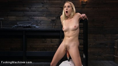 Photo number 6 from All Natural Blonde Babe Cadence Lux Squirts All Over Fucking Machines! shot for Fucking Machines on Kink.com. Featuring Cadence Lux in hardcore BDSM & Fetish porn.