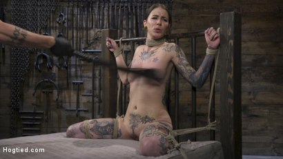 Photo number 9 from Alt Dream Girl Krysta Kaos Abused and Fucked in Extreme Rope Bondage!! shot for Hogtied on Kink.com. Featuring The Pope and Krysta Kaos in hardcore BDSM & Fetish porn.