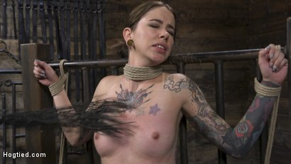Photo number 11 from Alt Dream Girl Krysta Kaos Abused and Fucked in Extreme Rope Bondage!! shot for Hogtied on Kink.com. Featuring The Pope and Krysta Kaos in hardcore BDSM & Fetish porn.