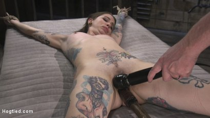 Photo number 15 from Alt Dream Girl Krysta Kaos Abused and Fucked in Extreme Rope Bondage!! shot for Hogtied on Kink.com. Featuring The Pope and Krysta Kaos in hardcore BDSM & Fetish porn.