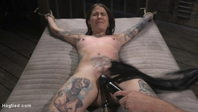 Photo number 17 from Alt Dream Girl Krysta Kaos Abused and Fucked in Extreme Rope Bondage!! shot for Hogtied on Kink.com. Featuring The Pope and Krysta Kaos in hardcore BDSM & Fetish porn.