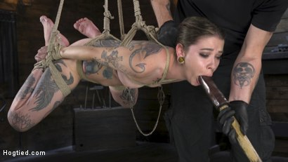 Photo number 5 from Alt Dream Girl Krysta Kaos Abused and Fucked in Extreme Rope Bondage!! shot for Hogtied on Kink.com. Featuring The Pope and Krysta Kaos in hardcore BDSM & Fetish porn.