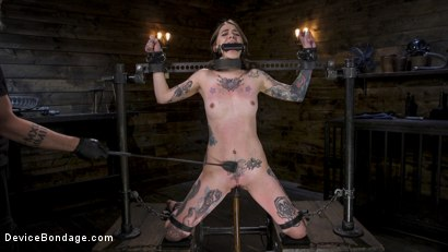 Pain Slut Krysta Kaos Devastated in Metal Bondage