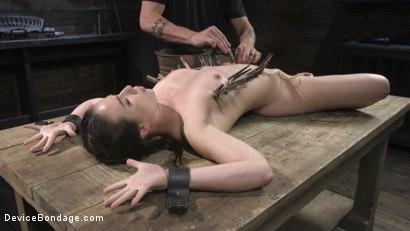 Photo number 14 from Petite Babe Casey Calvert Humiliated with Anal and Brutal Foot Torment shot for Device Bondage on Kink.com. Featuring The Pope and Casey Calvert in hardcore BDSM & Fetish porn.