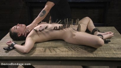 Photo number 15 from Petite Babe Casey Calvert Humiliated with Anal and Brutal Foot Torment shot for Device Bondage on Kink.com. Featuring The Pope and Casey Calvert in hardcore BDSM & Fetish porn.