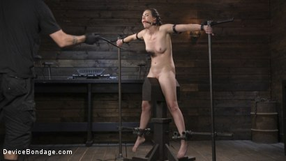 Photo number 2 from Petite Babe Casey Calvert Humiliated with Anal and Brutal Foot Torment shot for Device Bondage on Kink.com. Featuring The Pope and Casey Calvert in hardcore BDSM & Fetish porn.