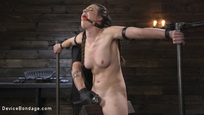 Photo number 3 from Petite Babe Casey Calvert Humiliated with Anal and Brutal Foot Torment shot for Device Bondage on Kink.com. Featuring The Pope and Casey Calvert in hardcore BDSM & Fetish porn.