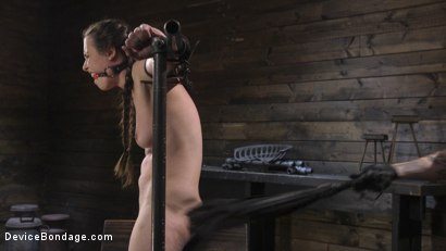 Photo number 6 from Petite Babe Casey Calvert Humiliated with Anal and Brutal Foot Torment shot for Device Bondage on Kink.com. Featuring The Pope and Casey Calvert in hardcore BDSM & Fetish porn.
