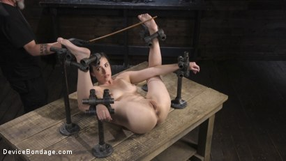 Photo number 7 from Petite Babe Casey Calvert Humiliated with Anal and Brutal Foot Torment shot for Device Bondage on Kink.com. Featuring The Pope and Casey Calvert in hardcore BDSM & Fetish porn.