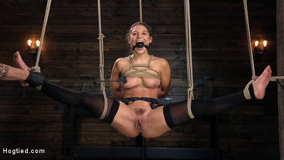 Hot Body Abella Danger Disciplined and Made to Cum in Rope Bondage!!