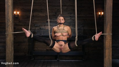 Photo number 5 from Hot Body Abella Danger Disciplined and Made to Cum in Rope Bondage!!  shot for Hogtied on Kink.com. Featuring Abella Danger and The Pope in hardcore BDSM & Fetish porn.