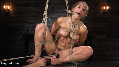 Photo number 6 from Hot Body Abella Danger Disciplined and Made to Cum in Rope Bondage!!  shot for Hogtied on Kink.com. Featuring Abella Danger and The Pope in hardcore BDSM & Fetish porn.
