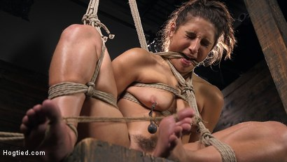 Photo number 8 from Hot Body Abella Danger Disciplined and Made to Cum in Rope Bondage!!  shot for Hogtied on Kink.com. Featuring Abella Danger and The Pope in hardcore BDSM & Fetish porn.