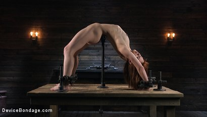 Photo number 5 from Petite Slave Alexa Nova Locked in Metal Bondage and Tormented Orgasms shot for Device Bondage on Kink.com. Featuring Alexa Nova and The Pope in hardcore BDSM & Fetish porn.