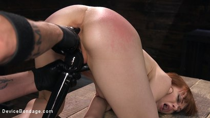Photo number 13 from Petite Slave Alexa Nova Locked in Metal Bondage and Tormented Orgasms shot for Device Bondage on Kink.com. Featuring Alexa Nova and The Pope in hardcore BDSM & Fetish porn.