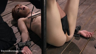 Photo number 8 from Petite Slave Alexa Nova Locked in Metal Bondage and Tormented Orgasms shot for Device Bondage on Kink.com. Featuring Alexa Nova and The Pope in hardcore BDSM & Fetish porn.