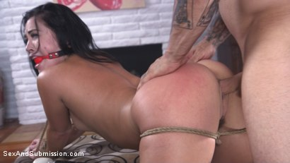Photo number 9 from Anal Coercion shot for Sex And Submission on Kink.com. Featuring Kristina Rose and Derrick Pierce in hardcore BDSM & Fetish porn.