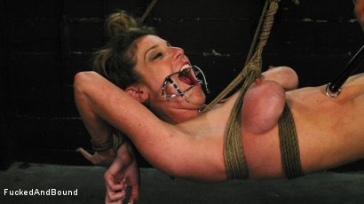 Photo number 20 from Kayla Paige is Horny and Latex Clad shot for Fucked and Bound on Kink.com. Featuring Derrick Pierce and Kayla Paige in hardcore BDSM & Fetish porn.