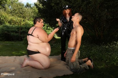 Photo number 5 from SSBBW & Chubby Combo shot for Plumperd on Kink.com. Featuring Monika, Amy and Martin in hardcore BDSM & Fetish porn.