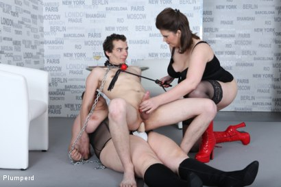 Photo number 15 from Strap-On Ass Fuck shot for Plumperd on Kink.com. Featuring Harry, Lucrecia and Viktorie in hardcore BDSM & Fetish porn.