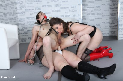 Photo number 17 from Strap-On Ass Fuck shot for Plumperd on Kink.com. Featuring Harry, Lucrecia and Viktorie in hardcore BDSM & Fetish porn.