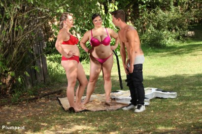 Photo number 1 from Outdoor Sandwich shot for Plumperd on Kink.com. Featuring Dionne, Leny and Dony in hardcore BDSM & Fetish porn.