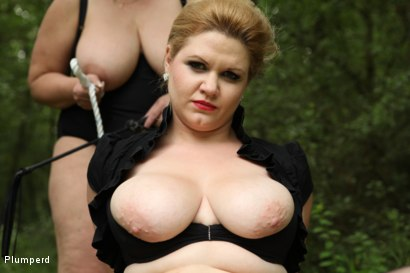 Photo number 19 from BBW Femdom In The Forest shot for Plumperd on Kink.com. Featuring Vicky, Sally and Andy West in hardcore BDSM & Fetish porn.
