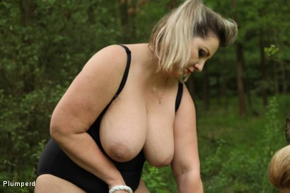 Photo number 21 from BBW Femdom In The Forest shot for Plumperd on Kink.com. Featuring Vicky, Sally and Andy West in hardcore BDSM & Fetish porn.