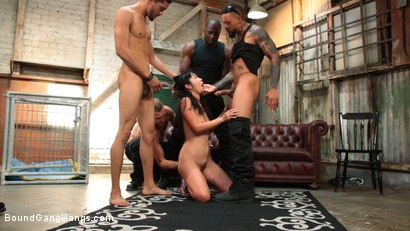 Photo number 5 from Newlywed Submissive Gets Gang Banged By Husband's Friends shot for Bound Gang Bangs on Kink.com. Featuring Marica Hase, Nathan Bronson, Eddie Jaye, Jay Savage  and Rob Piper in hardcore BDSM & Fetish porn.