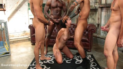 Photo number 8 from Newlywed Submissive Gets Gang Banged By Husband's Friends shot for Bound Gang Bangs on Kink.com. Featuring Marica Hase, Nathan Bronson, Eddie Jaye, Jay Savage  and Rob Piper in hardcore BDSM & Fetish porn.