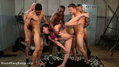 Photo number 1 from Mandy Muse Gets Her Big Ripe Ass Bound Up and Gangbanged shot for Bound Gang Bangs on Kink.com. Featuring Mandy Muse, Eddie Jaye, Jay Savage , Codey Steele , Cyrus King  and Ray Black in hardcore BDSM & Fetish porn.